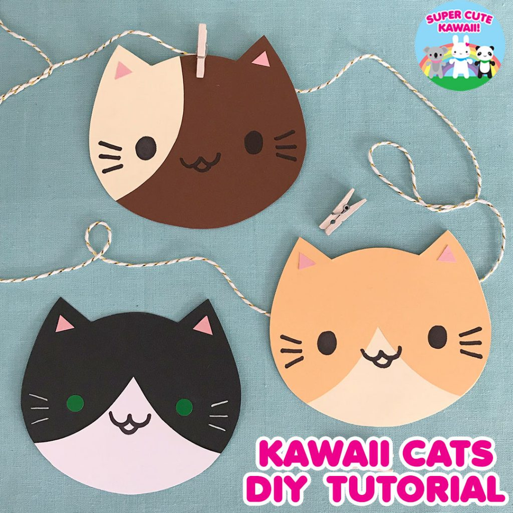kawaii cats paper craft tutorial