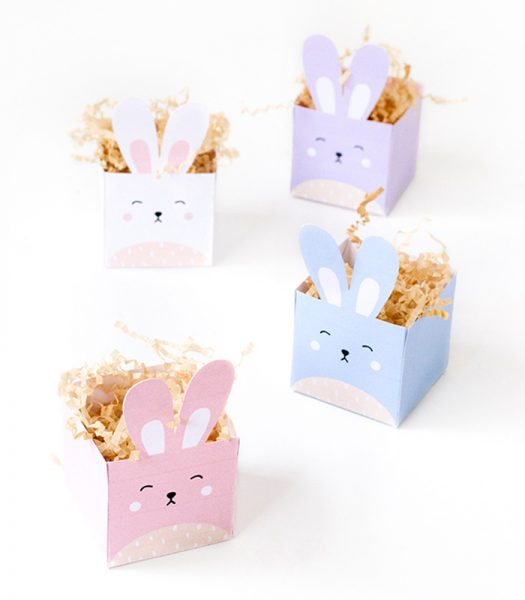Free Easter Bunny treat boxes