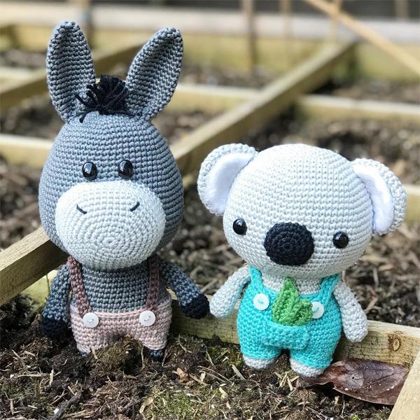 kawaii amigurumi crochet pattern koala donkey