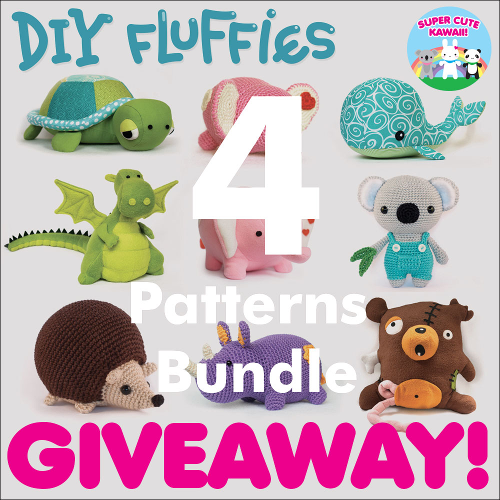 DIY Fluffies Kawaii Animal Sewing & Crochet Patterns Giveaway ...