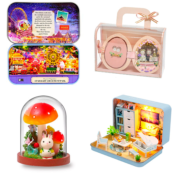 Tiny kawaii dollhouse kits