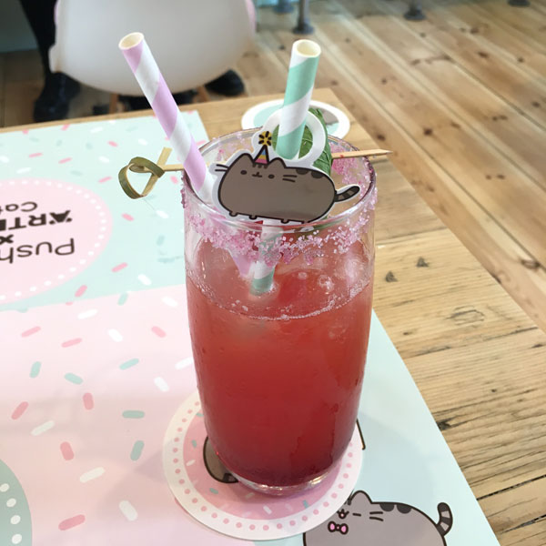 Pusheen x ARTBOX Cafe drinks