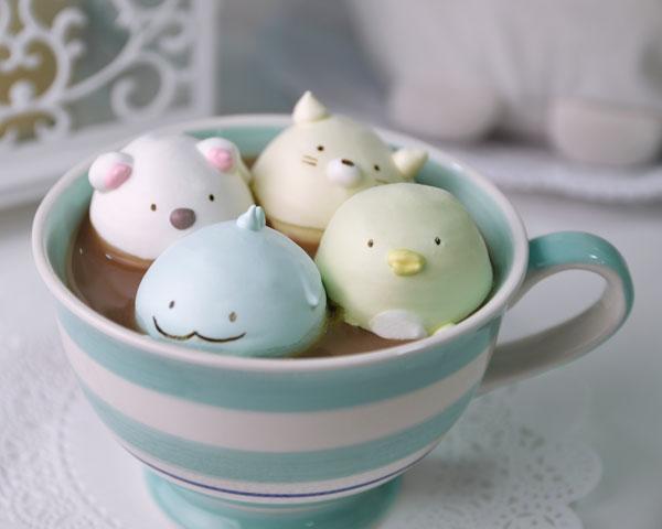cute animal recipes - Sumikko Gurashi meringues
