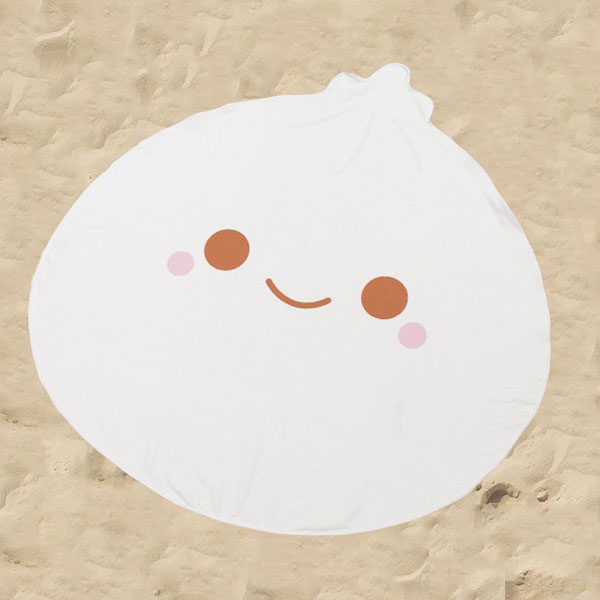 kawaii summer dumpling beach towel