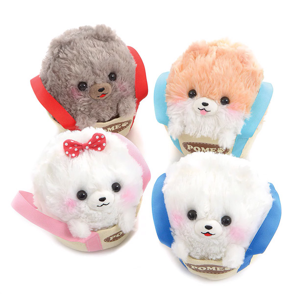 Kawaii Amuse plushies - pometan dogs