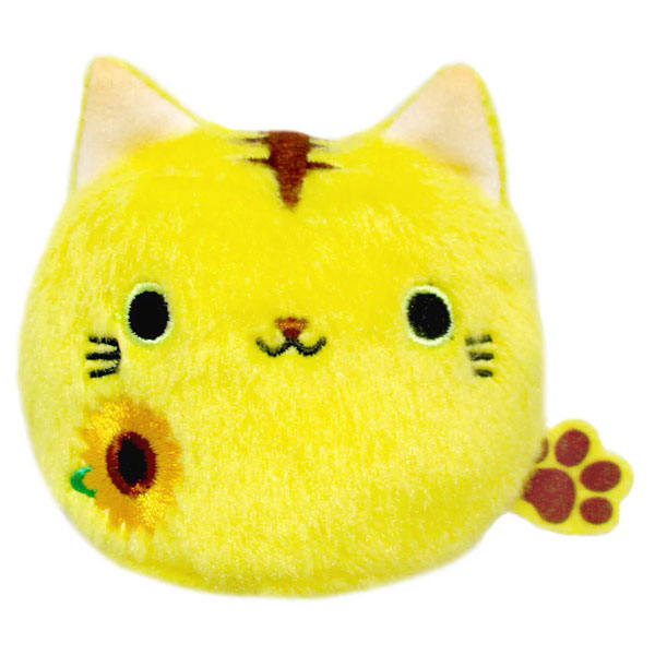 kawaii sunflower nekodango cat plush