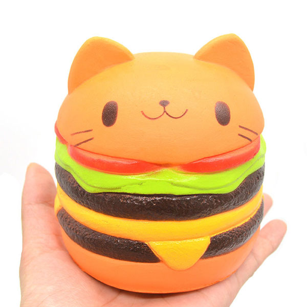 cat burger kawaii squishy