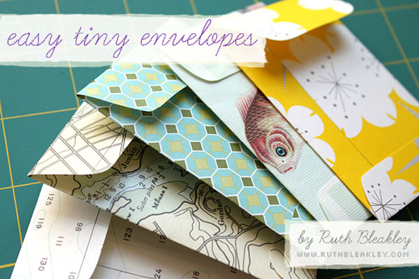 Gift Wrap DIY envelopes
