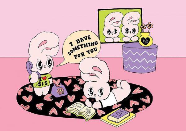 Esther Bunny kawaii stickers