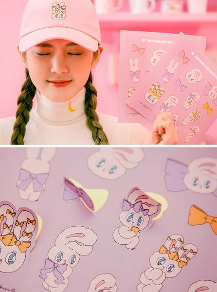 Esther Loves Chuu kawaii stickers
