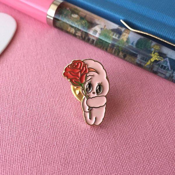Esther Bunny kawaii enamel pin