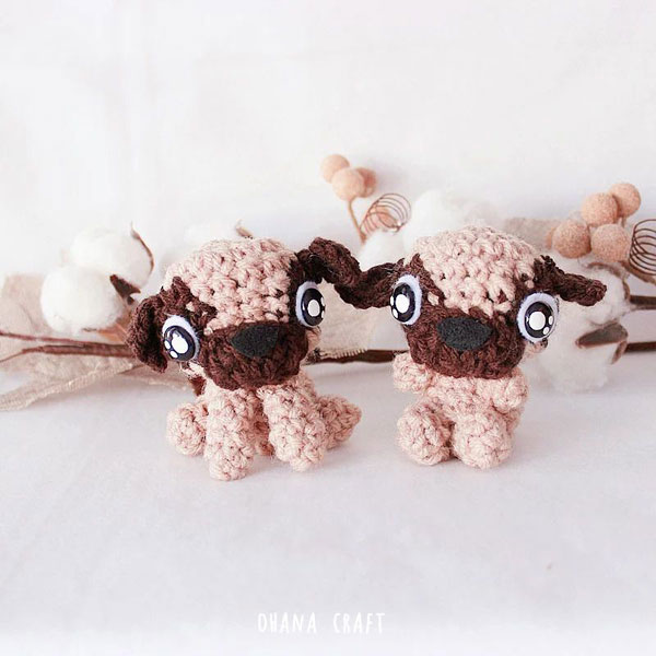 Year of the Dog Crafts - pug amigurumi crochet pattern