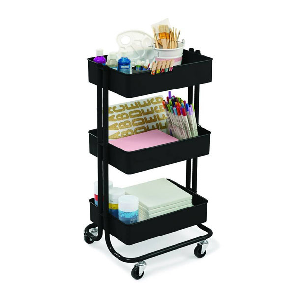 cute organization ideas - rolling cart