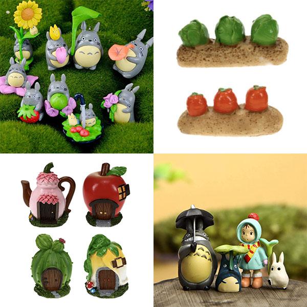Totoro fairy garden decorations