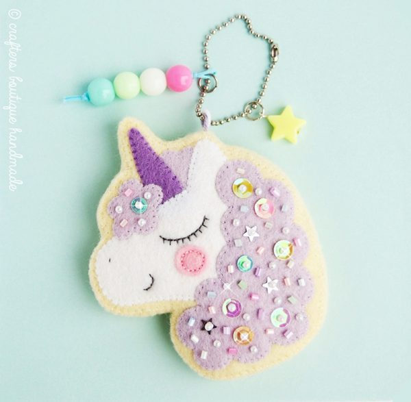 felt animal crafts magical unicorn