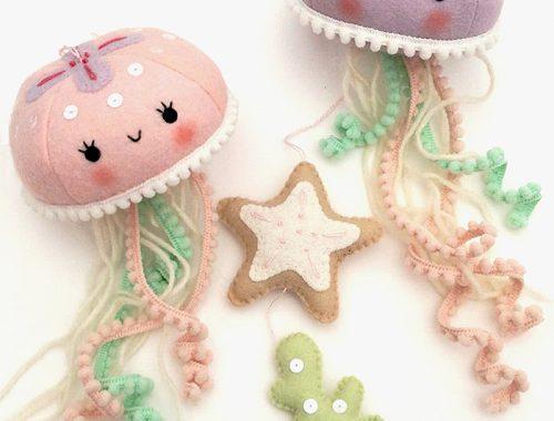 felt animal crafts jellyfish
