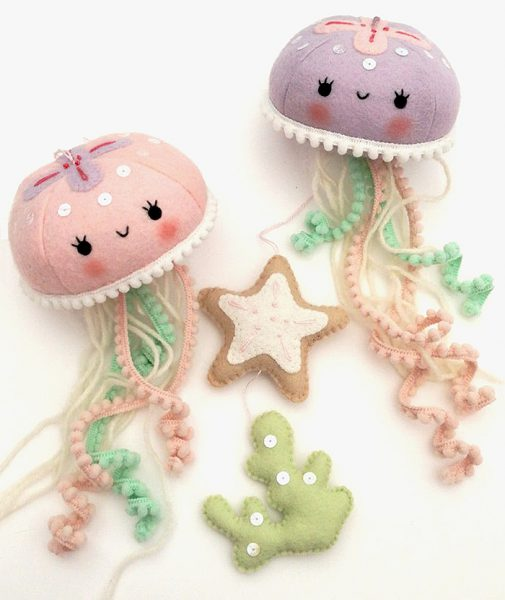 felt animal crafts jellyfish