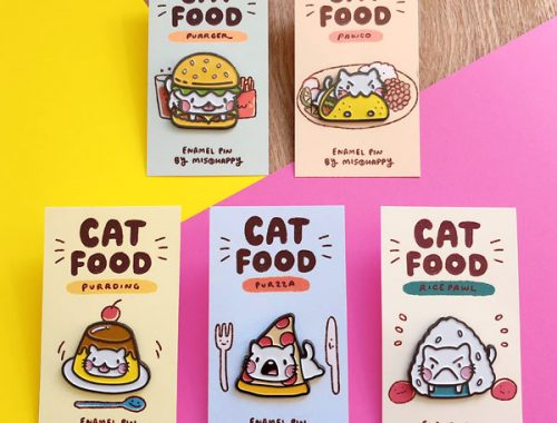kawaii cats enamel pins