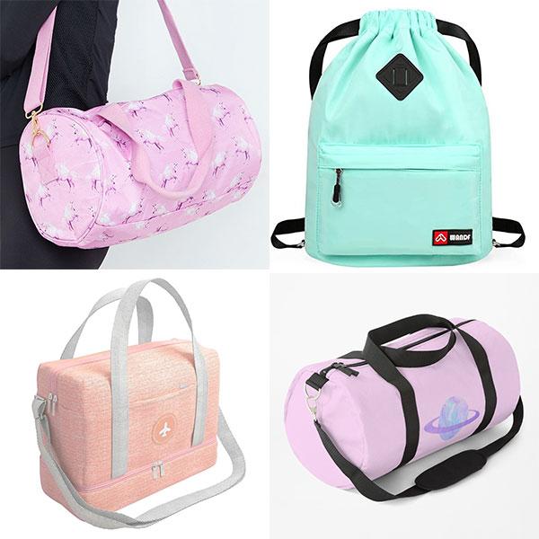 pastel gym bags