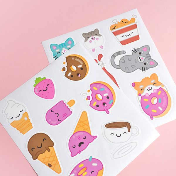 Kawaii animal stickers