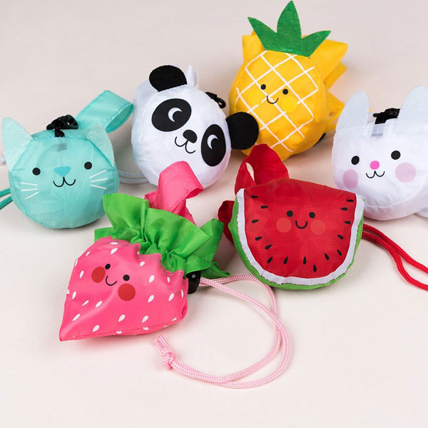 kawaii animals foldaway bags