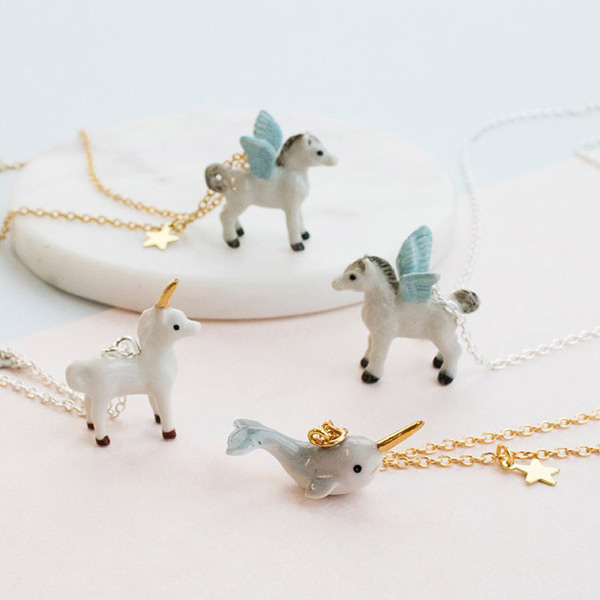 Kawaii Narwhal & Unicorn Necklaces