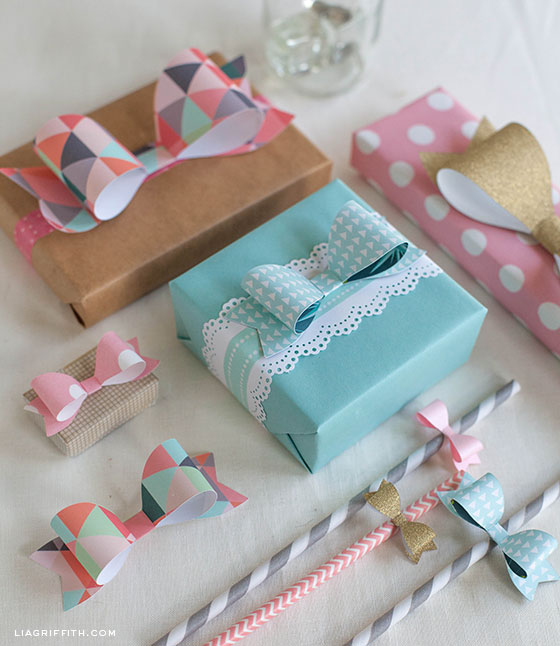 Gift Wrap DIY bows