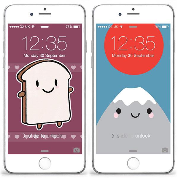 mt fuji bread slice iphone wallpapers