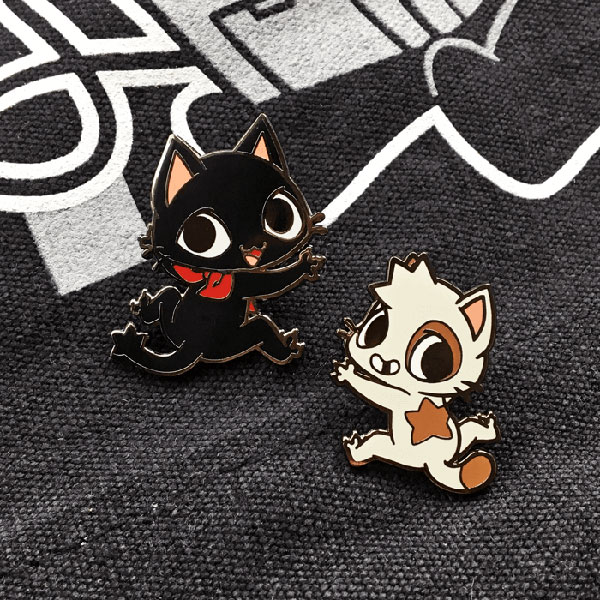 Sugar Bunny Shop Gamercat enamel pins