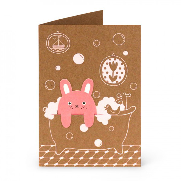cute card with bookmark