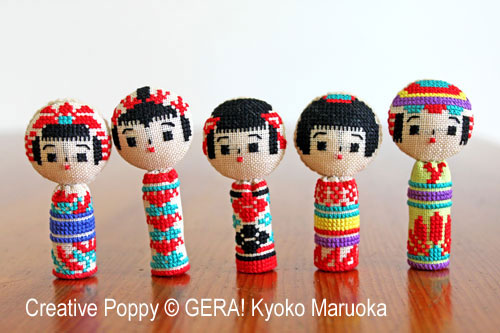 Kawaii Kokeshi Doll cross stitch pattern