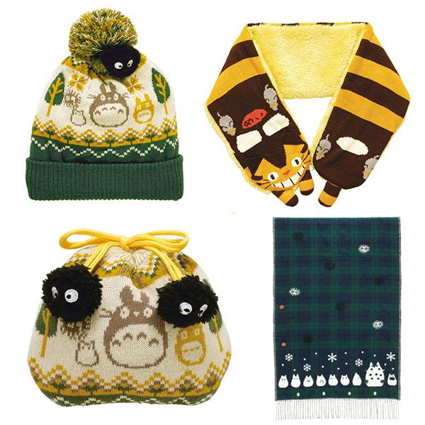 totoro kawaii hat scarf