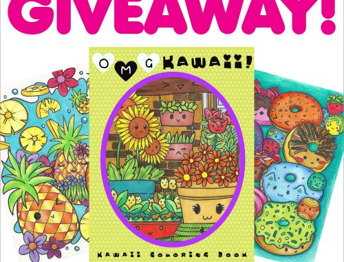 OMG Kawaii colouring book giveaway