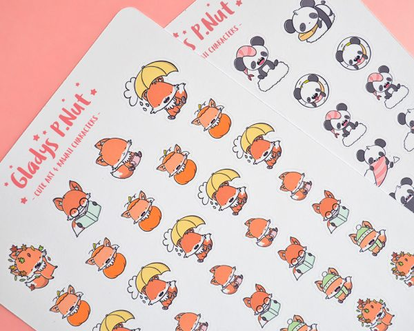 Gladys P. Nut Kawaii Stickers