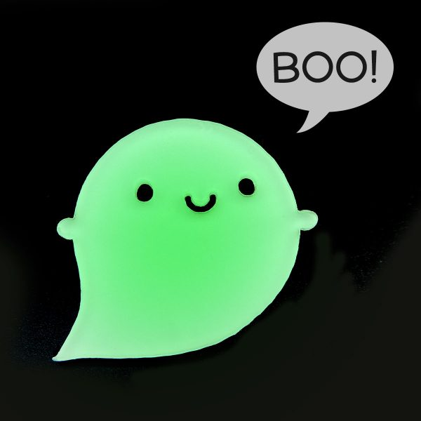 Glow In The Dark Kawaii Halloween ghost brooch