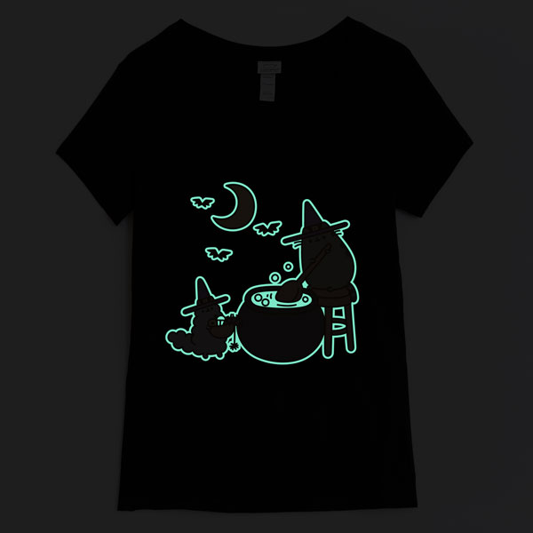 Glow In The Dark Kawaii Halloween Pusheen tshirt