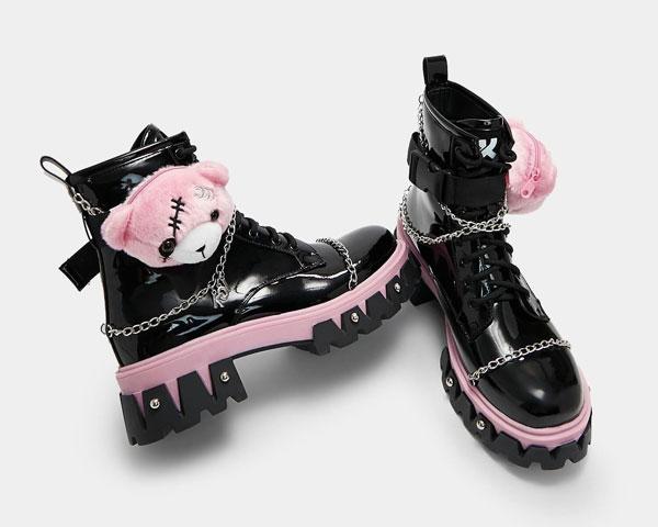 pastel goth vegan boots