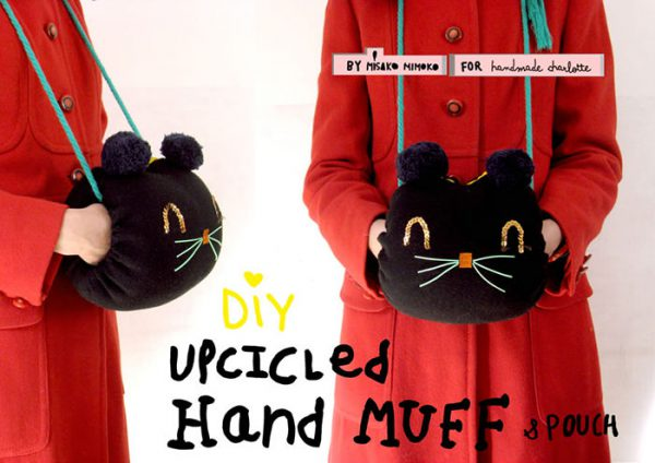 DIY kitty hand muff