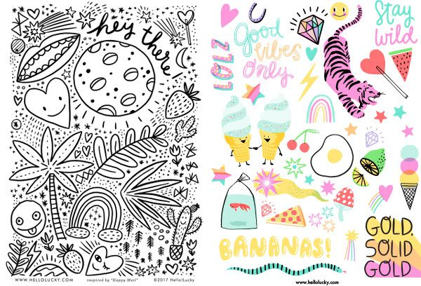 happy mail free printables