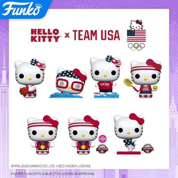 Team USA Hello Kitty Funko Pops