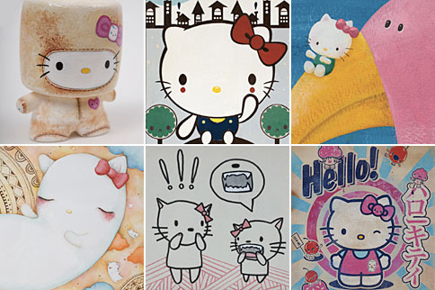 hello kitty - three apples
