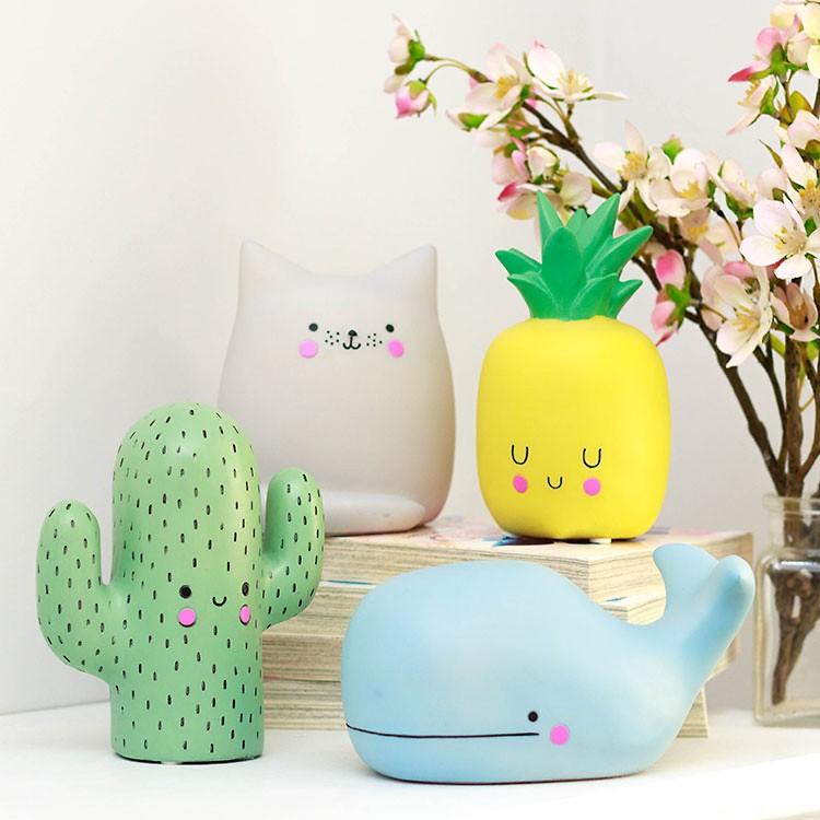 kawaii cactus lamp