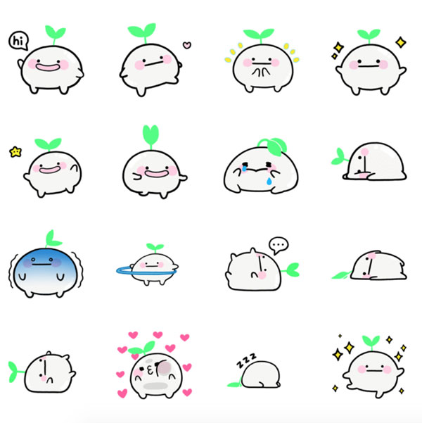 Kawaii Message Stickers - hibud on LINE
