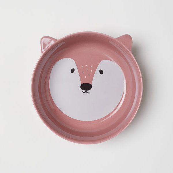 H&M Home kawaii fox bowl