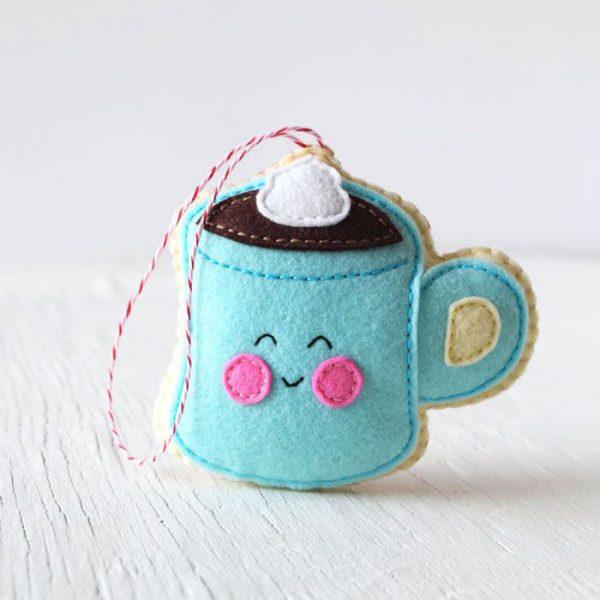Hot Chocolate felt sewing pattern