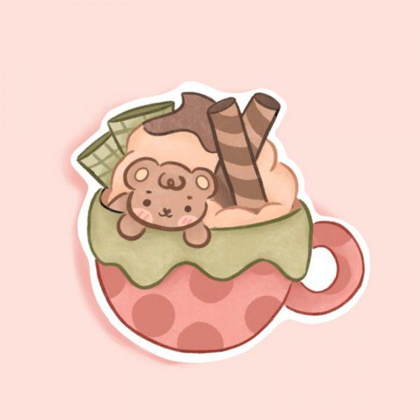Hot Chocolate kawaii sticker
