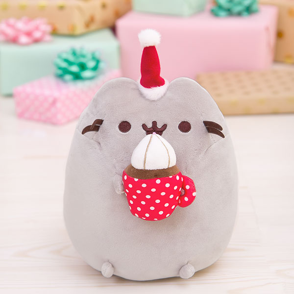 hot cocoa pusheen plush