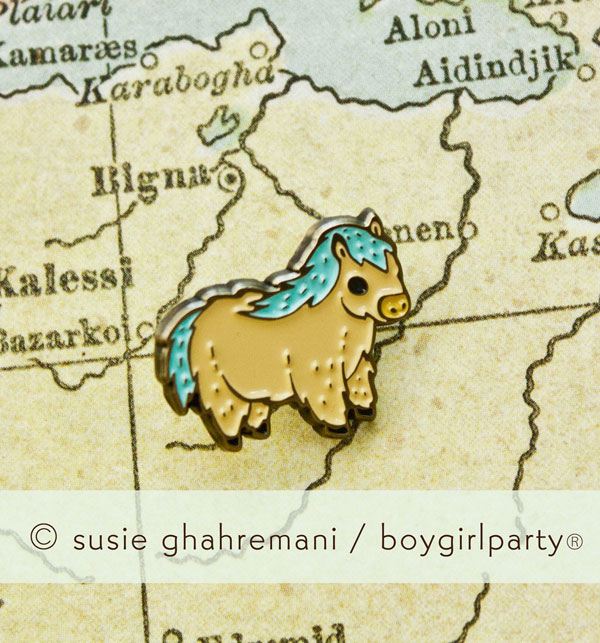 boygirlparty pony enamel pin