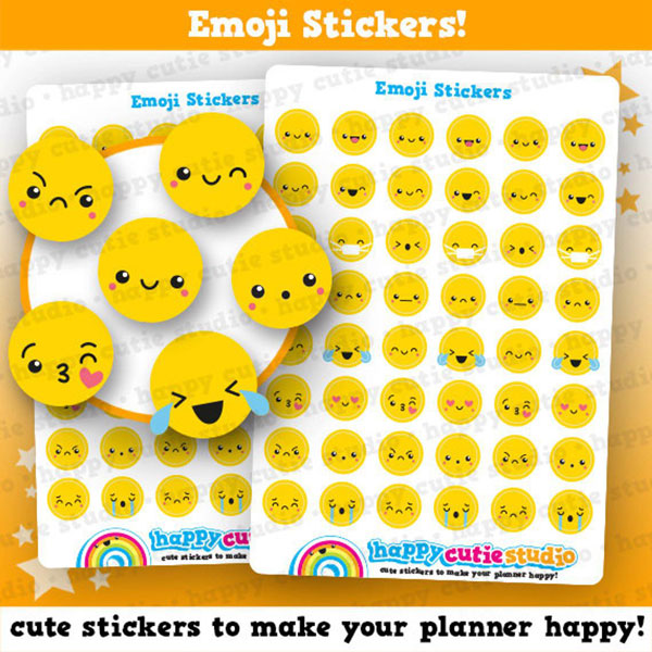 kawaii planner stickers - emoji