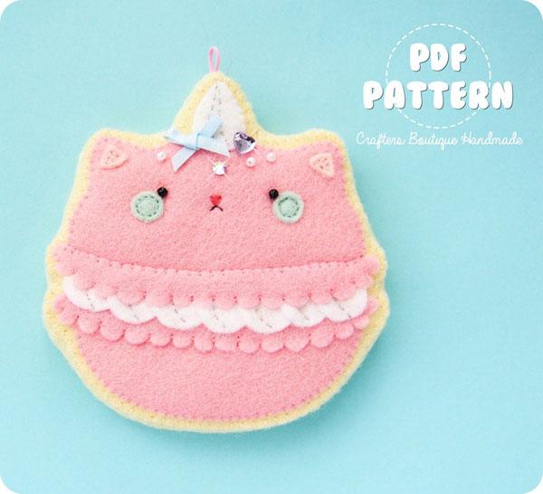 macaron cat sewing pattern